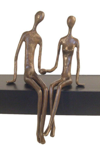Danya B™ Sitting Couple Cast Bronze ZD6349