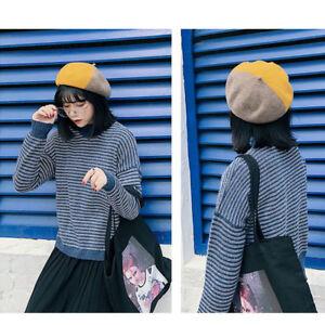 9fdb5aa94d661 La imagen se está cargando Las-mujeres-llano-boina-francesa-estilo -sombrero-lana-