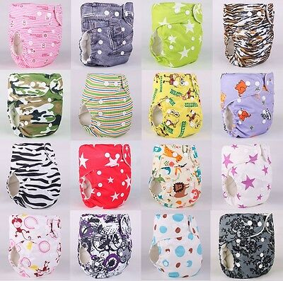 New 10pcs+10 INSERTS Baby Infant Cloth Diaper Reusable TPU Nappy Covers