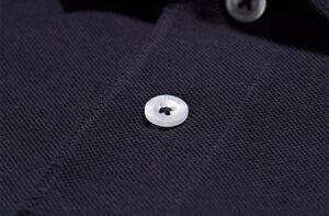 WEEKEND OFFENDER Dove navy blue cotton polo shirt size medium-2XL