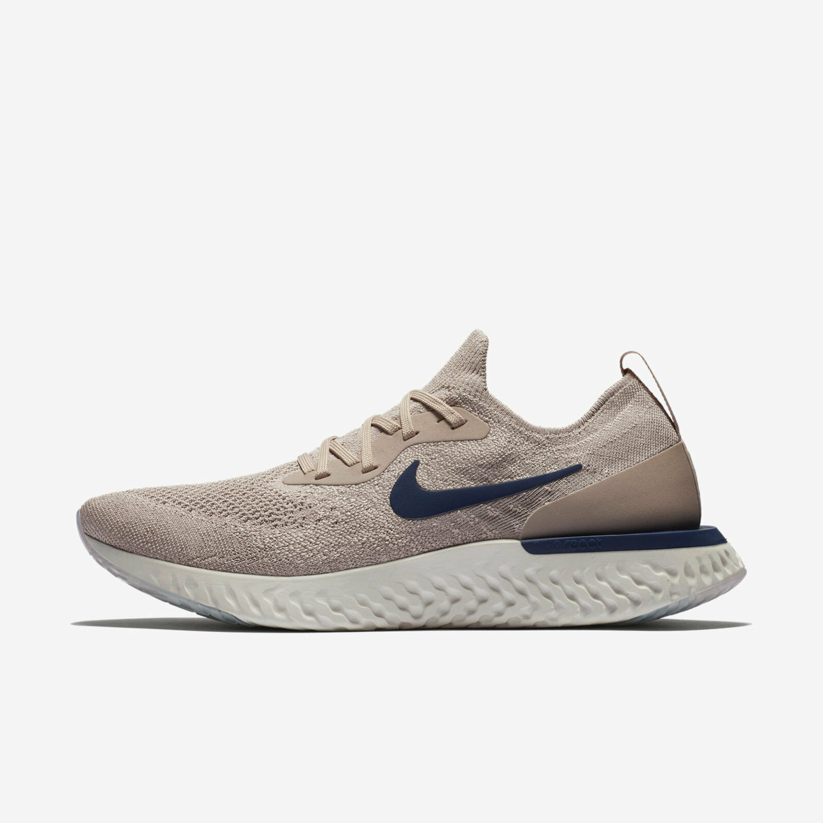 Nike Epic React Flyknit [AQ0067-201] Men Running Shoes Diffused Taupe/Blue Void