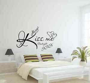 Dettagli Su Baciami Sempre Buonanotte Wall Sticker Adesivi Murali Adesivi Mostra Il Titolo Originale