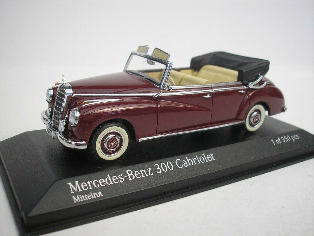 Mercedes-Benz 300 Congreenible 1952 Middle Red 1 43 Minichamps 437032131 New