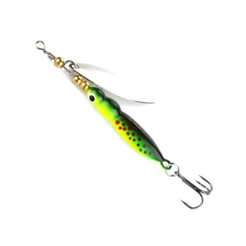 4x Spinner Baits Fishing Lures Spinnerbait 15g\9cm Trout Metal Spoon Willow BIN