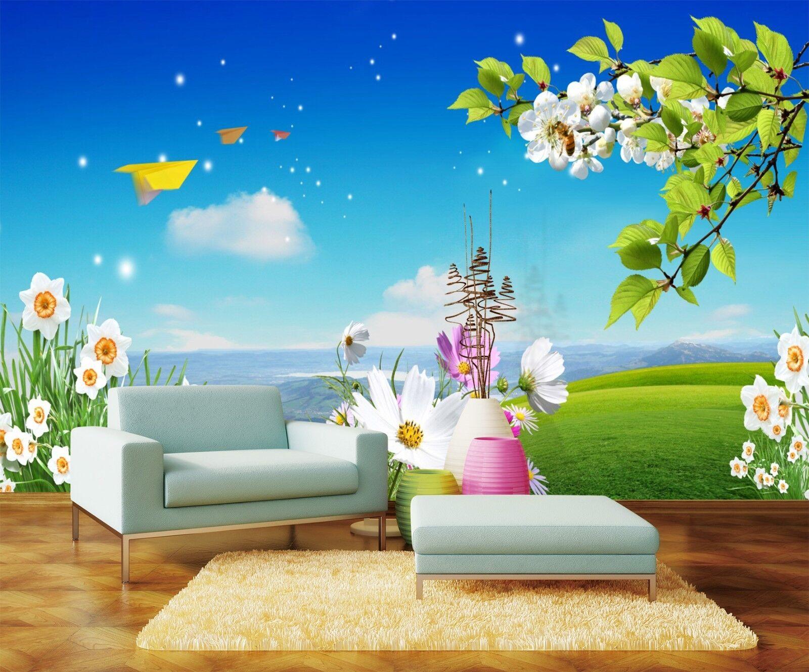 3D Hügel Blaumen Himmel 7844 Tapete Wandgemälde Tapeten Bild Familie DE Lemon | Großer Räumungsverkauf  | Günstige Preise  | Attraktives Aussehen