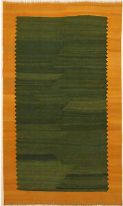 Green-5-039-x-9-039-Kilim-Rug-Hand-Knotted-Persian-Rug