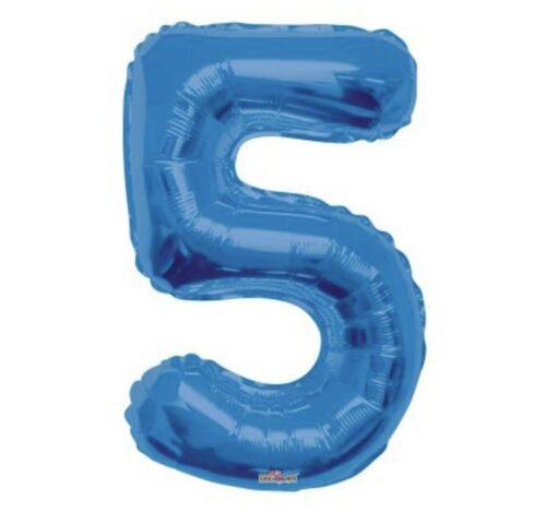 """Blue Number 5 34/"""" Balloon Birthday Party Decorations 5th #5"""