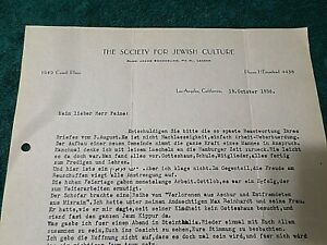 Old-1936-Manuscript-Rabbi-Jacob-Sonderling-California-Society-Jewish-Culture