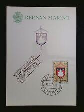 SAN MARINO MK 1974 ARMBRUST-TURNIER WAPPEN MAXIMUMKARTE MAXIMUM CARD MC CM c8489