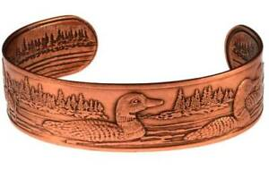 Solid-Copper-Bracelet-Loon-Cuff-Arthritis-Pain-Relief-Jewelry-Adjustable-Size