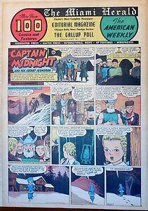 Captain Midnight - Nazi menace, scarce full page color Sunday comic May 16, 1943