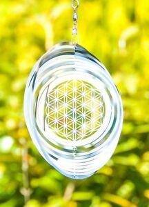 Blume-des-Lebens-Mobile-aus-Edelstahl-Windspiel-ca-15-3-cm-Feng-Shui