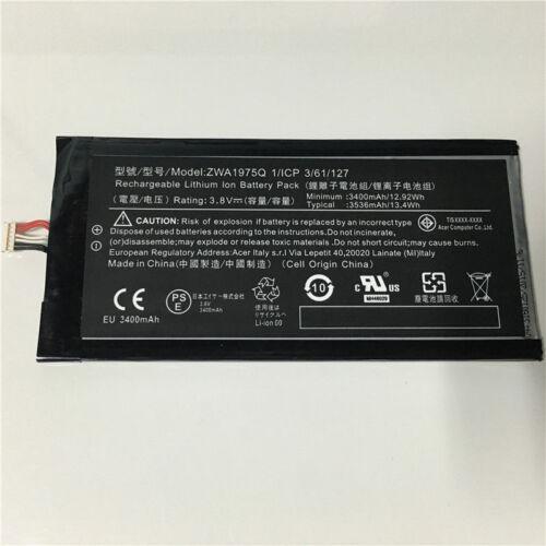 Original 3400mAh Battery Akku ZWA1975Q For ACER Iconia Tab 7 A1-713 A1-713HD