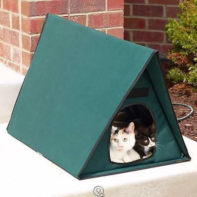 The Only Multiple-Cat or Dog Outdoor Heated Animal Shelter Weatherproof Vinyl