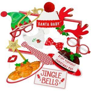 Navidad-Cabina-de-Fotos-Accesorios-Festivo-Navidad-Fiesta-Imagen-Nuevo-ano-SELFIE-Fun-30-PC