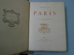 AUGUSTE VITU- PARIS-450 DESSINS INEDITS D APRES NATURE- MAISON QUANTIN-VERS 1890
