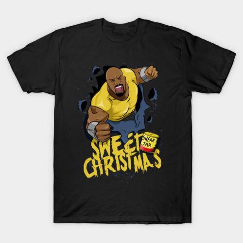 Luke Cage Sweet Christmas Black T-Shirt