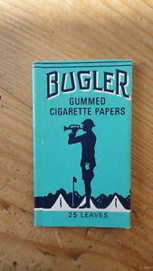 ANCIEN PAQUET DE FEUILLES A CIGARETTES ROLLING PAPER BUGLER 1973 BLEU SOLDAT oNNVuKWt-09152855-406077355