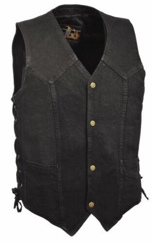 jeans con con da frontale Lacci di chiusura classica neri laterali gancetto uomo 6x1Yqnwnf7