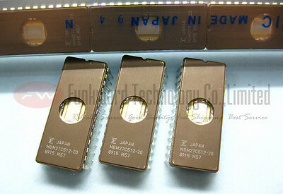 New Fujitsu MBM27C512-20 27C512 512KBIT UV EPROM 200ns GOLD DIE,CDIP28 X 1pc