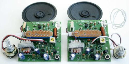 2 set Basic CB 27Mhz 150mW Study Assembed Kit 9VDC Exclued the spekers