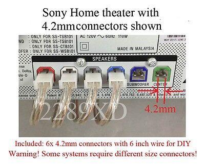 sony home hifi speaker connectors