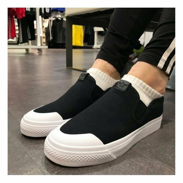 Nizza Slip On Mujer Zapatos Zapatillas Adidas Negro CQ3104