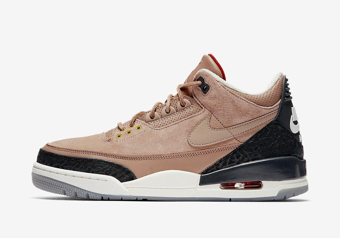 Nike Air Jordan 3 Retro Jth Nrg Sz 8 14 Av6683 200 Bio Beige Tinker Sepatu Casual Sb Stefan Janoski Light Original 333824 405