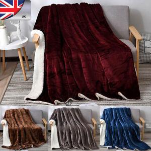 Premium-Sherpa-tiro-coperta-da-pavilia-80-034-x-60-034-in-Microfibra-in-Pile-Reversibile-UK