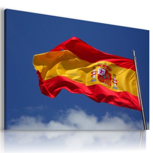 FLAG SPAIN MADRID MODERN CANVAS WALL ART PICTURE LARGE AZ229 X MATAGA