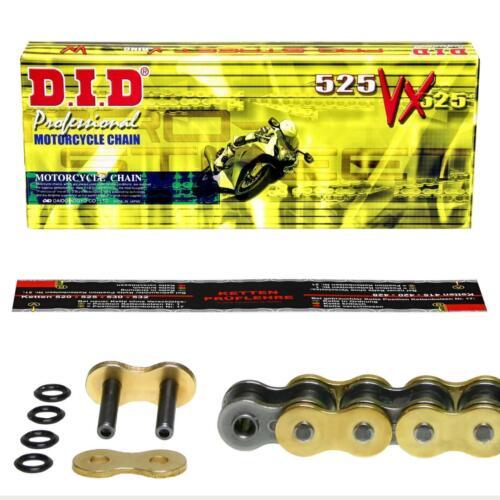 99-09 AV BY NIETschloß ohne ABS DID Kette GOLD extra verstärkt Suzuki SV 650
