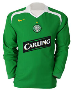 dcc750d52da New NIKE CELTIC Football Club 2005 -2006 Player Issue Shirt Carling ...