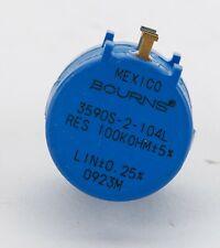 New Listingbourns 3590s 2 104l 100k 10 Turn Precision Potentiometer New Old Stock