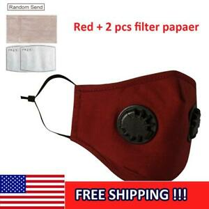 Air-Purifying-Masks-Carbon-Filter-Paper-Cotton-Anti-Haze-Fog-Respirator-Red-US