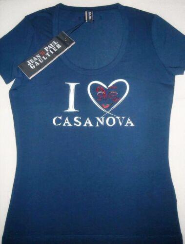 Donna Gaultier I shirt T Blue Bnwt Paul Stretch Jean's casanova M Jpg Maglietta w58FFq