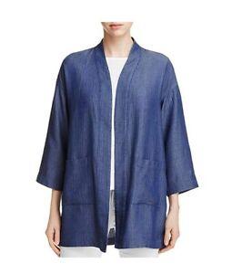 Tencel Størrelse Large 100 Denim Womens Fisher Jacket Drapey Kimono 2030 Eileen New zBOqAxw