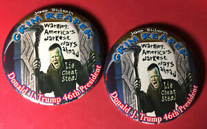 Anti-Joe-Biden-Button-034-Sensenmann-Trump-46th-Praesident-034-2-Pin-Set