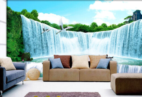 3D Waterfall Bird 775 Wall Paper Wall Print Decal Wall Deco Indoor AJ Wall Paper