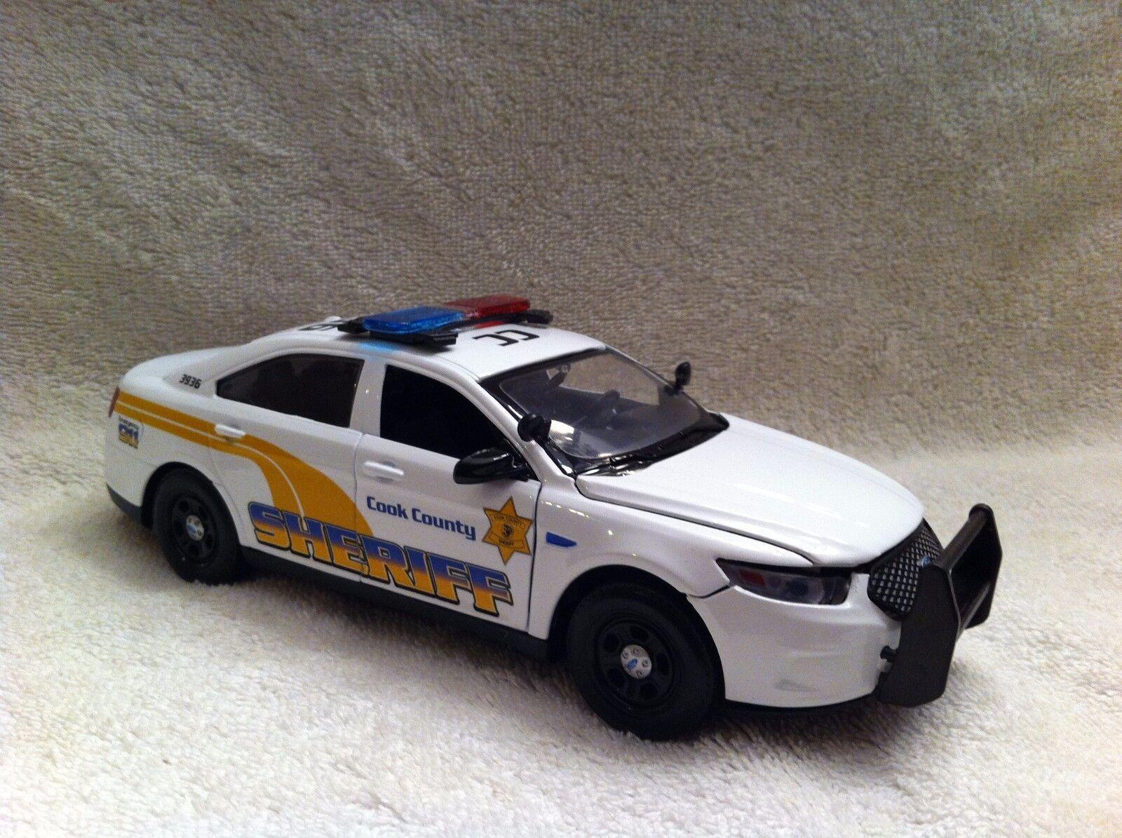 Cook County Sheriff mal escala 1 24 Diecast Modelo con luces de trabajo PD Sirena
