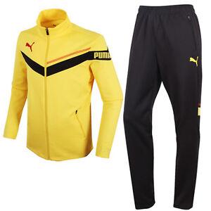 best choice many fashionable online retailer Details about Puma 89526502 Men Tracksuit Summit Knit Training jacket pants  yellow black