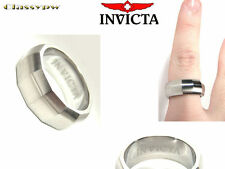 INVICTA STAINLESS STEEL UNISEX RING 2506L SIZE 9 LARGE $315 retail!