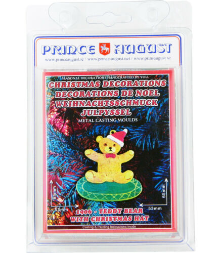 Flat Christmas Decorations Teddy Bear Presents Prince August Moulds Molds PA1906