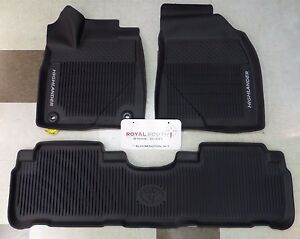 Image Is Loading Toyota Highlander 2017 2018 All Weather Floor Liners