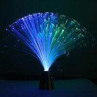 Romantic LED Colour Changing Fibre Optic Fountain Night Light Lamp Home Decor