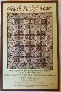 Parisian Posies Quilt Pattern Pieced//English Paper Pieced FB