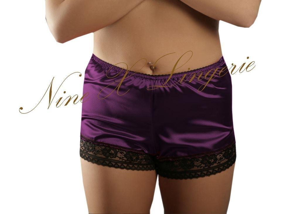 Nine X/ /Mujer Sat/én French Knickers Plus tama/ños S M L XL 2/X L 3/x l