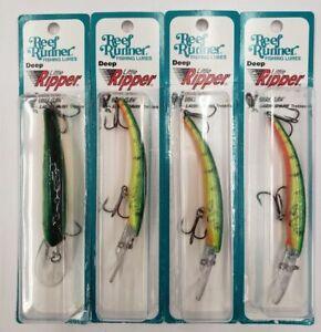 4-Reef-Runner-Deep-Little-Ripper-600-series-Firetiger-Trolling-Lure-4-PACK
