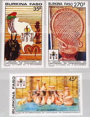 Briefmarken Exposition Handicrafts Kunsthandwerk Mnh Ein Unverzichtbares SouveräNes Heilmittel FüR Zuhause Diszipliniert Burkina Faso 1990 1239-41 900-02 Intl Afrika