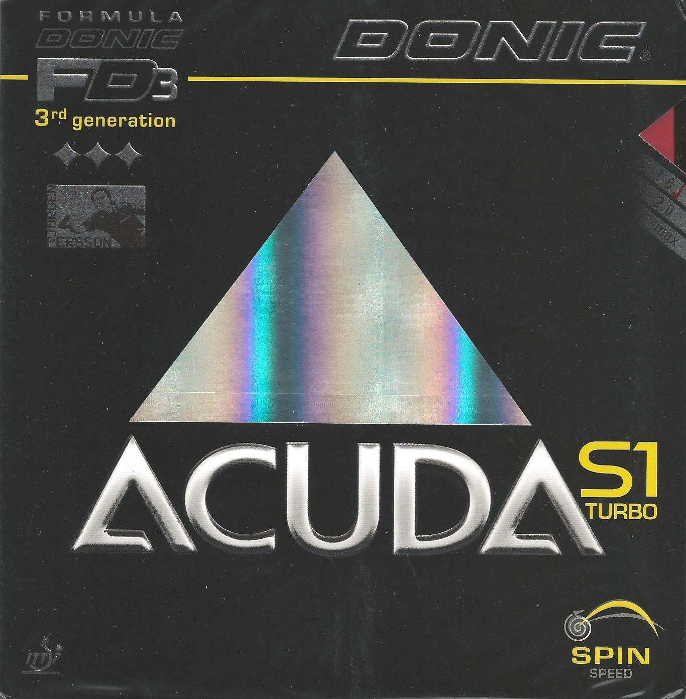 Donic Acuda S1 Turbo Rubber (Red, 1.8 MM)