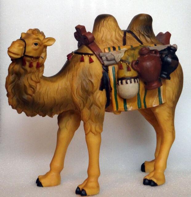 9cm für Figuren ca.12cm Krippenfiguren Tiere Kamel liegend Höhe ca